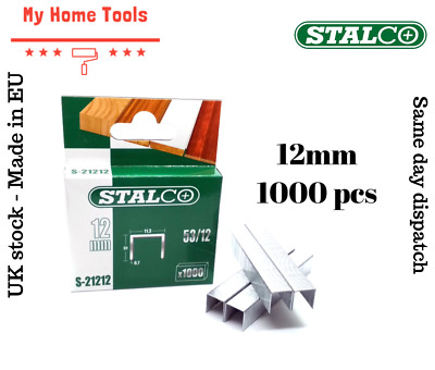 1000pc 12mm STAPLES 53A Pack Duty Gun Tacker Staple Upholstery Galvanised Craft