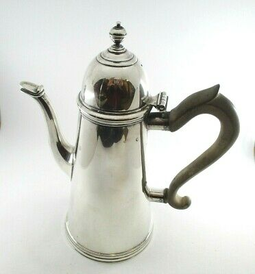 Ensko New York Sterling Silver Hot Chocolate Pot With Hinged Lid & Wooden Handle