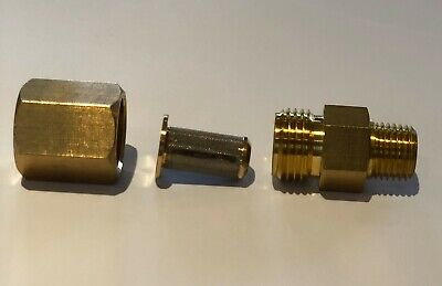 "Wand In-Line Filter Carpet Cleaning Wands & Hoses 1/4"" M x F Brass"