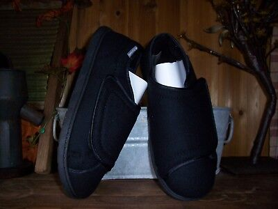 bdbeb544f11 Dr Scholls Mens Therapeutic Shoes Size 5 6E Wide Width Black Adhesive Strap  New