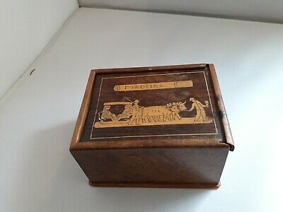 "Early 1900 "" Madeira "" Wooden Inlaid Box"