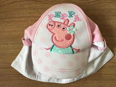 e756729ea6764 PEPPA PIG SUN Hat Matalan 2-4 Year Girls Pink White Cover Up Holiday ...