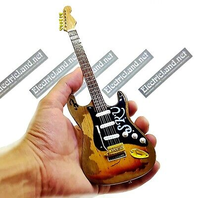 Mini Guitar scale 1:4 Stevie Ray Vaughan SRV stratocaster miniature collectible