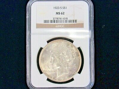 1923-S Ngc Ms-62 Peace Dollar (13646-Dollar-Oo)