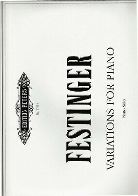 R.Festinger: Variations for Piano, Piano solo.
