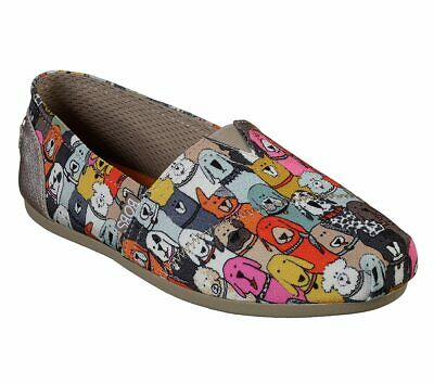 Women's Bobs Plush-Wag Party from Skechers with Memory Foam 34389W/MLT WIDE FIT