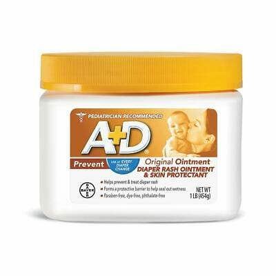 A+D Original Diaper Rash Ointment, Skin Protectant With Lanolin And Petrolatum,
