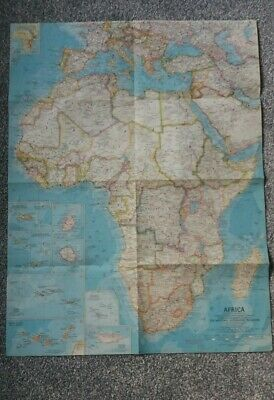 Map Of Africa 1960.Vintage Map Of Africa 1960