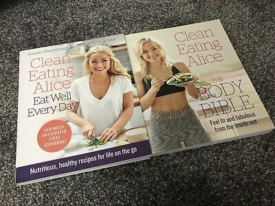 Clean Eating Alice Cook Books Eat Well Everyday & Body Bible NEW