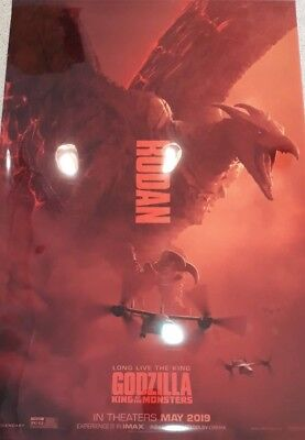 Godzilla: King of the Monsters 2019 movie 27x40 DS LIGHT BOX POSTER RODAN