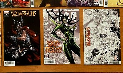 War of Realms 1 16 Book Lot Dellotto Campbell Concept Cho 1st Prints Marvel NM