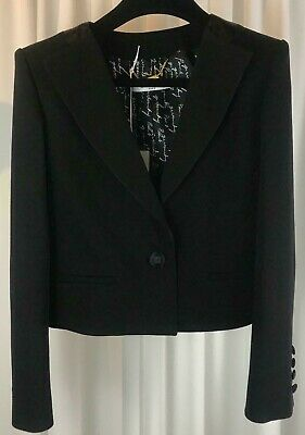 New!! Authentic Givenchy 4G Wool Crepe Cropped Blazer Jacket Veste £1905