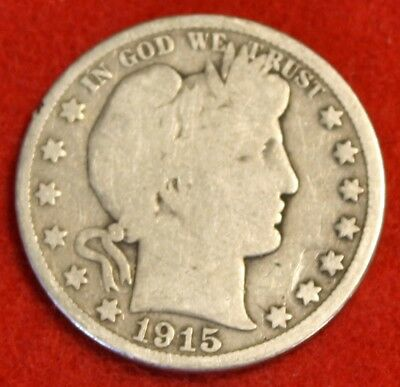 1915-D Barber Half Dollar G Beautiful Coin Check Out Store Bh499