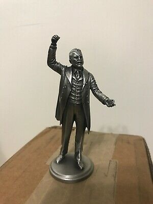 Us President Theodore Roosevelt Collectible Pewter Statue Lance Presidential
