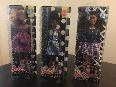Barbie Dolls Fashionistas Lot AA  Zig Zag Blue Brocade Silver Stars Lot New