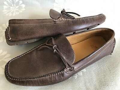 f5c18dcd485 Peter Millar Driving Shoes Drivers Penny Loafers Moccasin Brown Leather 11 M
