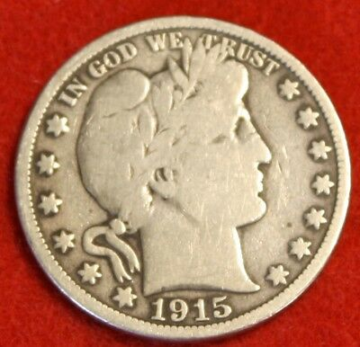 1915-S Barber Half Dollar Vg Beautiful Coin Check Out Store Bh460
