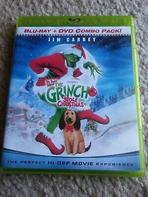 Jim Carry Dr. Seuss' How The Grinch Stole Christmas blu ray DVD combo pack