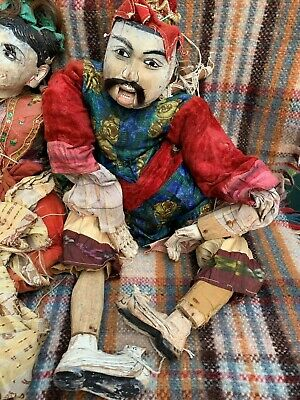 Pair Antique large Oriental Puppets (imported 1960s) Stunning!