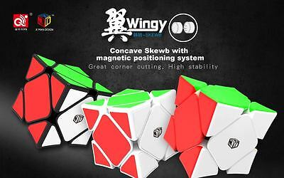 QIYI X-man magnetic concave 'Wingy' Skewb speedcube puzzle - world record cube