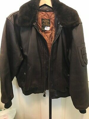 U.S. ARMY AIR FORCES LEATHER BOMBER JACKET Med TYPE B-15 AVIREX LIMITED 91-3888