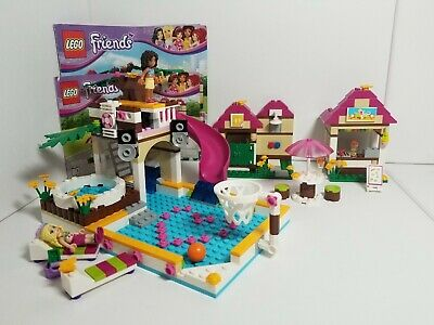 Lego 41008 Friends Heartlake City Pool With Box And Instructions