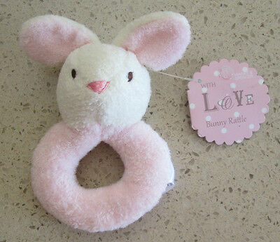 BNWT Marks & Spencer Pink Bunny Rattle