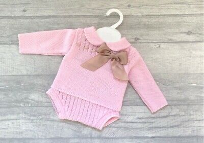White Jam Pants Set 3-18 month NEW SS19 Kinder Boutique Spanish Baby Girl Pink