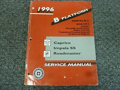 1996 chevy caprice factory electrical wiring diagrams shop service repair  manual