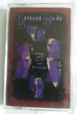 Depeche Mode Songs Of Faith And Devotion Cassette Tape Tested Working Free Post