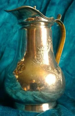 EPBM antique lidded Water Jug / Pitcher / Ewer Silverplate Richard Richardson RR
