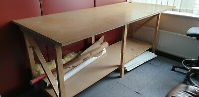 Large Fabric cutting and storage table/ Arts and craft table. Custom made.
