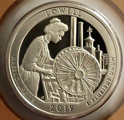 2019 S Proof Lowell Massachusetts ATB Quarter, Gem Proof Coin; Clad