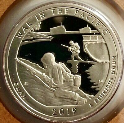2019 S Proof War In The Pacific ATB Quarter, Gem Proof Coin; Clad