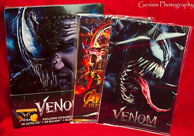 VENOM 4K Ultra HD 3D + 2D Steelbook Filmarena WEA + Marvel Art Cards