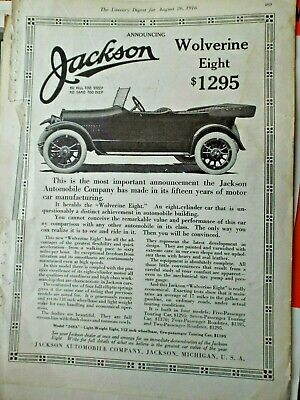1910-19 1916 Paige Detroit Motor Car Company Advertisement