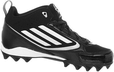 buy popular ef19d 39559 Adidas Lightning Mid MEN S Football Cleats Shoes, Black White, G65940, ...