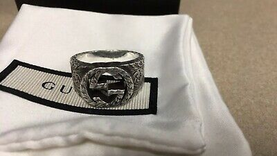 a41930f9f1910d GUCCI RING INTERLOCKING Silver Woman Authentic Used F501 - $226.40 ...