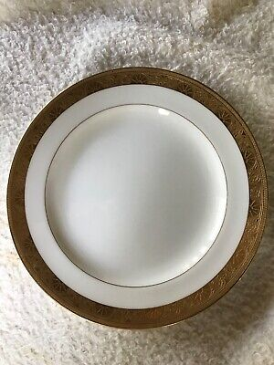 """Minton for Tiffany & Co H1032 Gold Encrusted Bread Plate 7 3/4""""."""