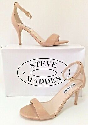 8d8cf96a2b8 STEVE MADDEN Silly Blush Patent Leather Sexy Ankle Strap Women Sandals Sz  6.5