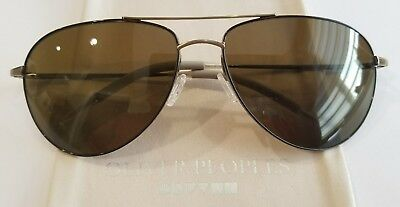 14836171a4 Oliver Peoples Benedict Antique Gold Chocolate   Brown Polarized OV 1002S  503957