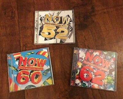 3 X Now Thats What I Call Music Double Disc Cds Numbers - 52,60,62