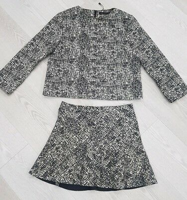 Zara monochrome outfit co-ordinate skirt and top size S