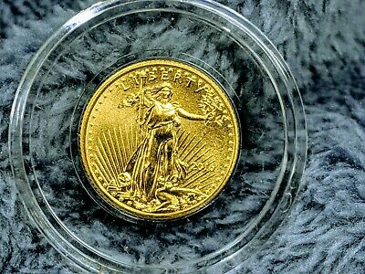 2016 American Gold Eagle $5 1/10 Oz Uncirculated Mint Condition Coin