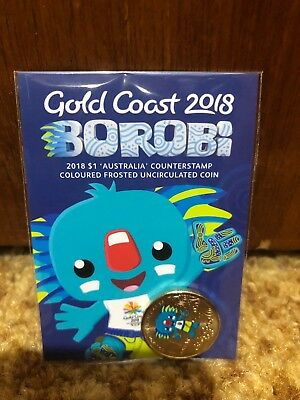 2018 Borobi Gold Coast Commonwealth Games Counterstamped $1 One Dollar Coin