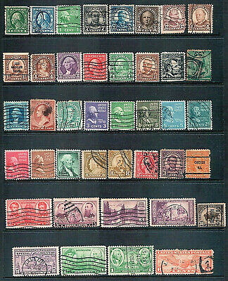 UNITED STATES - Mixed lot of 41 Stamps Older Issues Fair to Good Used