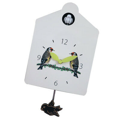 Blesiya Battery Powered Cuckoo Swing Clock Pastoral Wall Decoration Clock