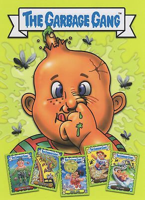 The Garbage Gang Complete 96 Base Card Set & Lenticular Card A & Garbage Binder