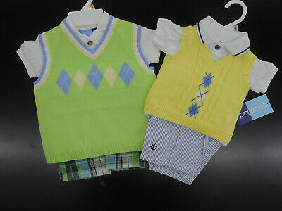 Infant Boys Good Lad $50 Assorted 3PC. Vest Shorts Sets Sizes 3-6 MTH. - 24MTH.