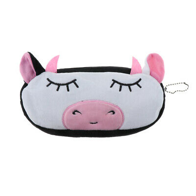 Adorable Animal Plush Cosmetic Pencil Zipper Bag for School Supplies,Gadgets